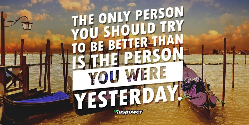 The only competition that matters: be a better you!