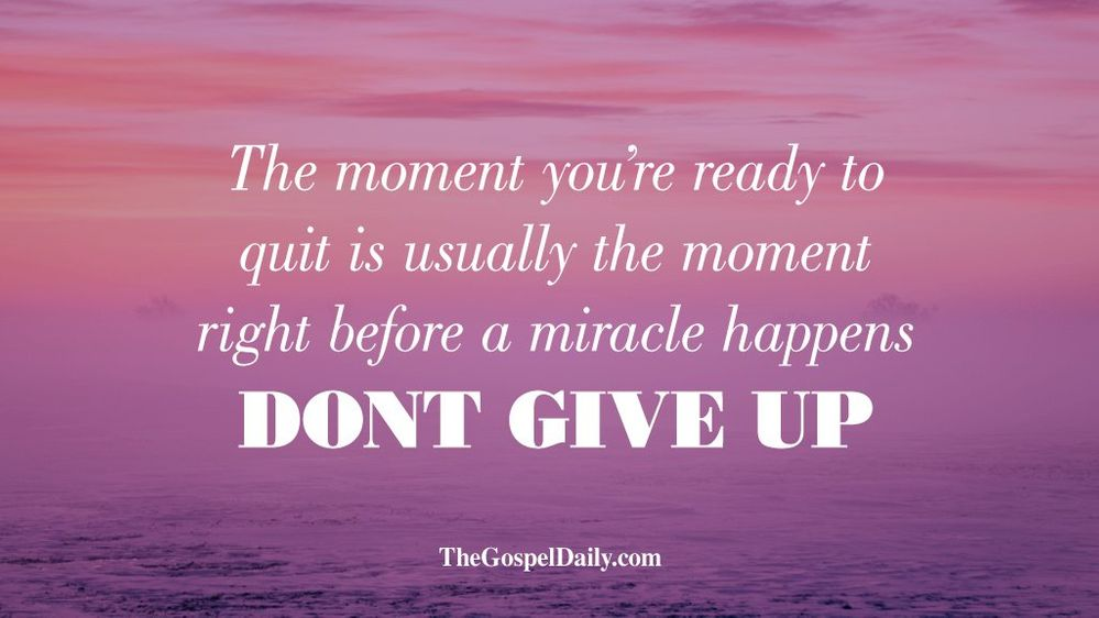 Keep going! You'll make it!