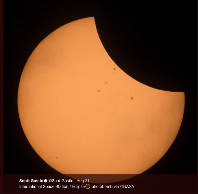 Wide shot: International Space Station gets into this shot of the 2017 eclipse