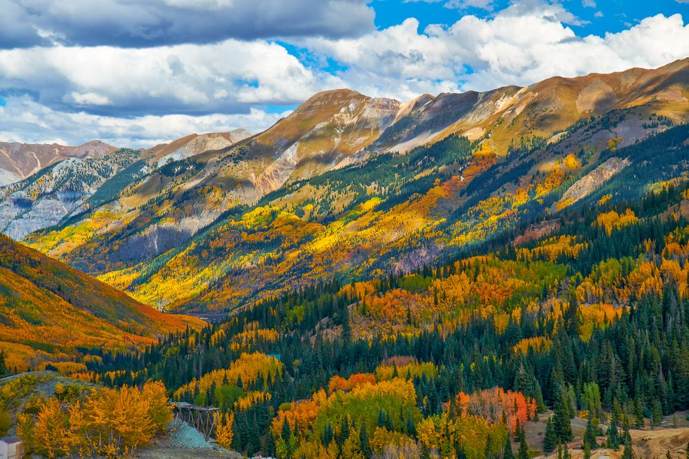 A glorious Colorado fall view, but not our view.