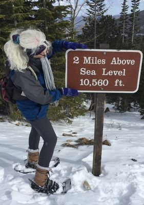 9 miles of snowshoeing: life is GOOD!