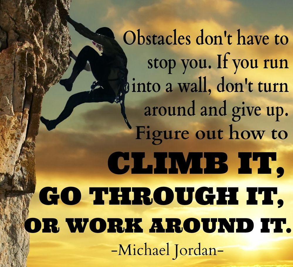 I always say: there's one way through this challenge, and that's through it .:)  Let's Go!