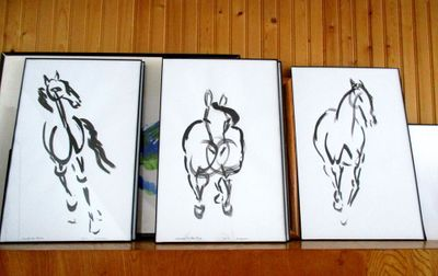 3 more horse cartoons. I created an animation with these, too!