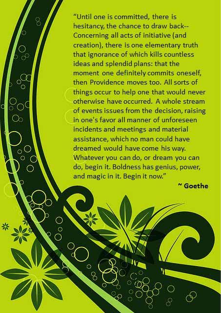 Goethe on Committment