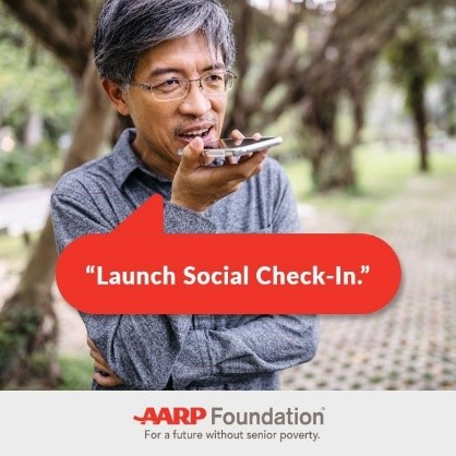 AARP Voice Social Check In