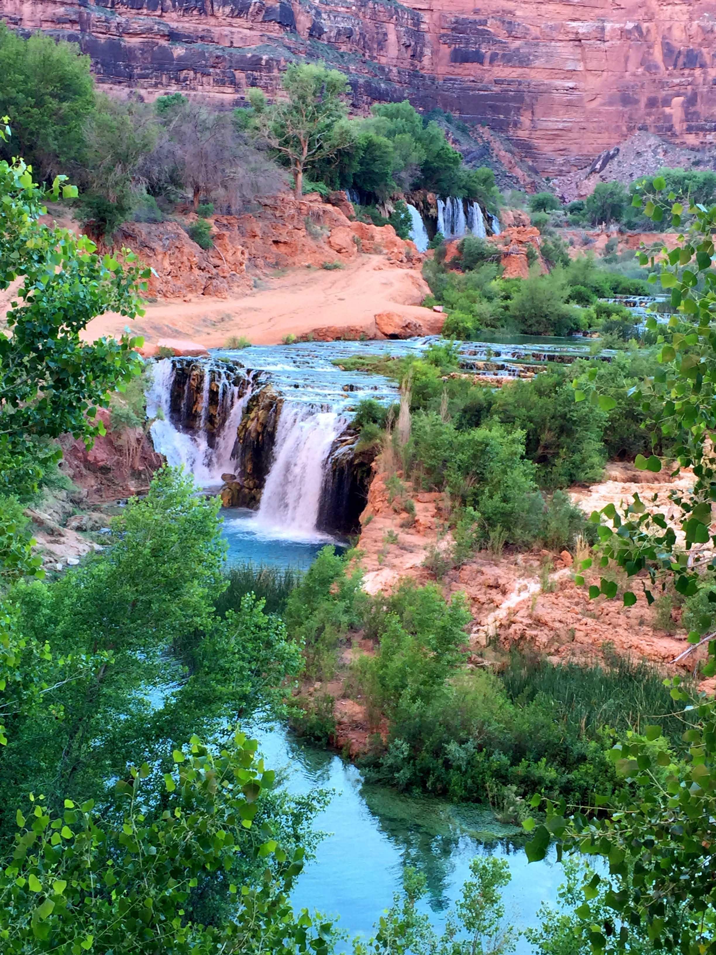 Upper and Lower Navajo Falls. Grand Canyon, AZ