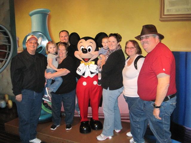 Disneyland with three generations of family