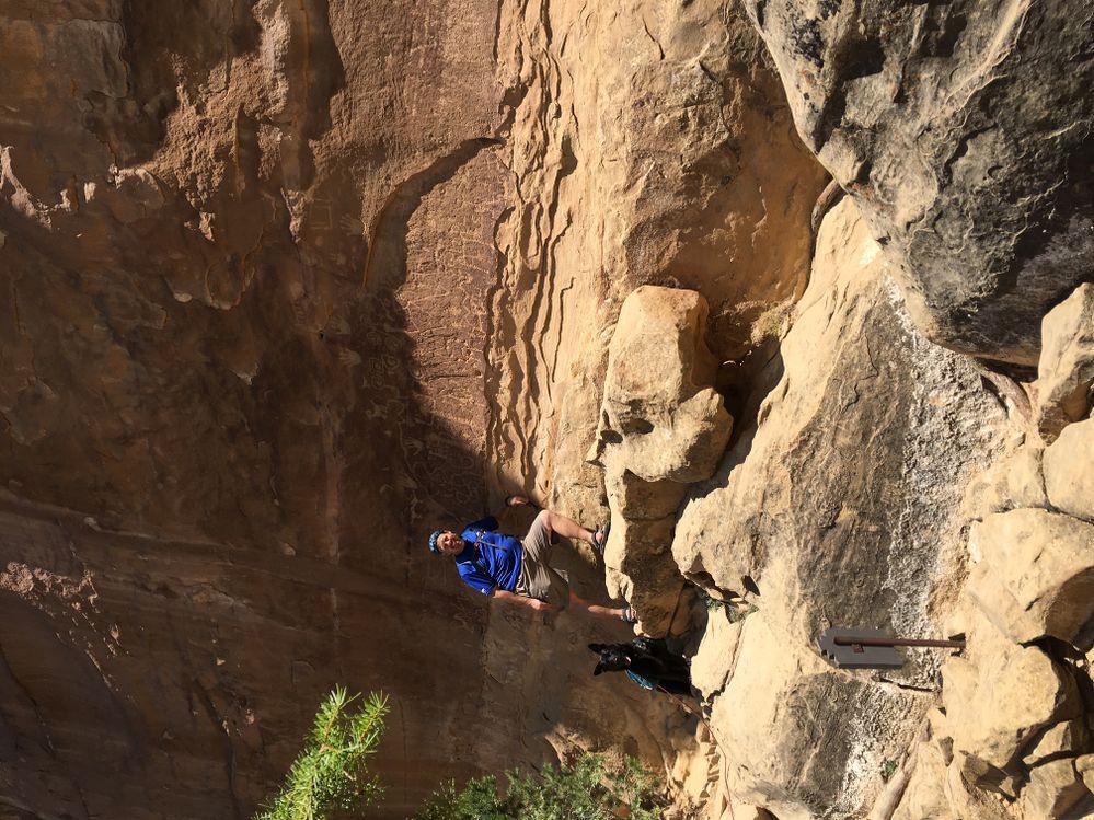 Petroglyphs in Mesa verde