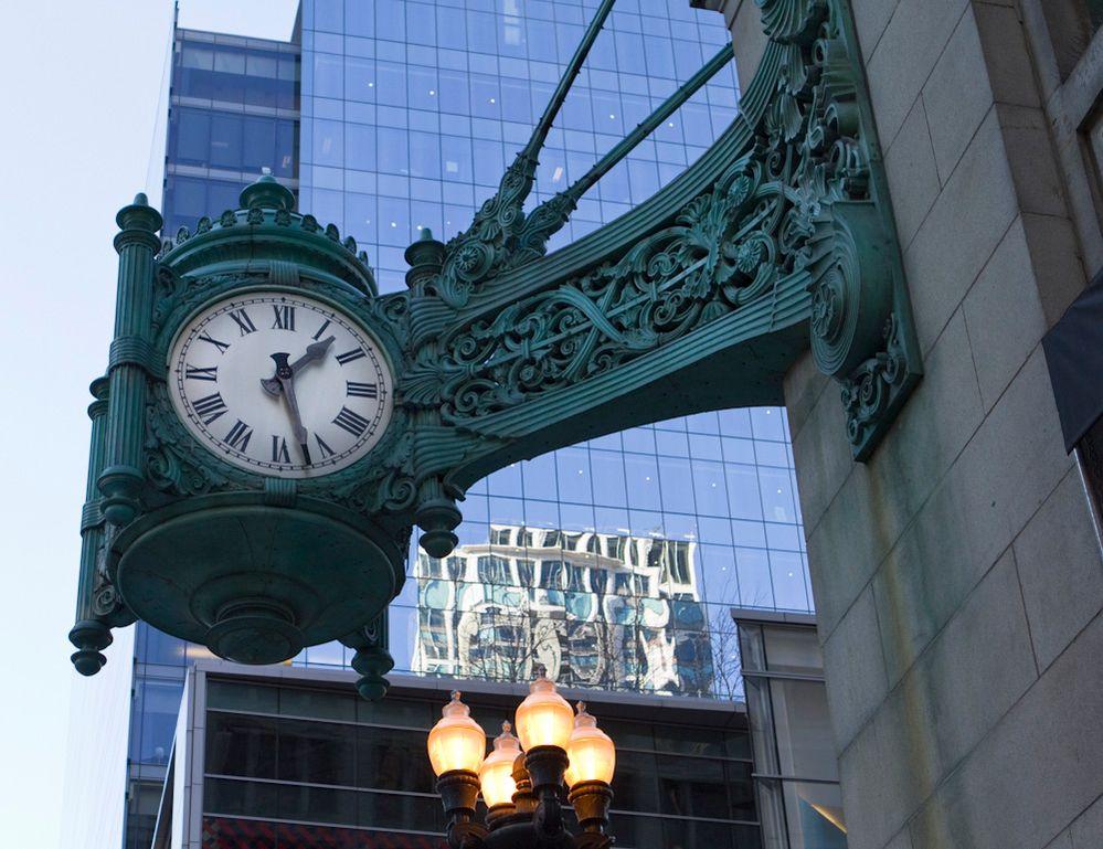 Antique Street Clock Chicago
