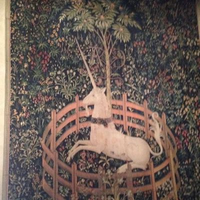 From one of the Unicorn Tapestries