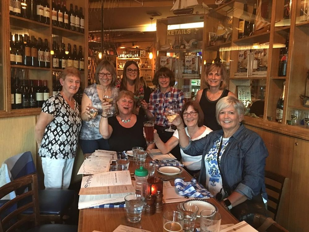 Dukes Chowder House seafood dishes were a treat for these girlfriends from Nebraska, Texas, and New Hampshire