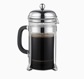 French press coffee maker equals divine java