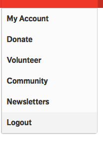 Find My Account in upper right drop down menu by clicking on down arrow; click on My Account.