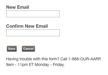 Edit your email address via this pop-up box. Remember to click Save.
