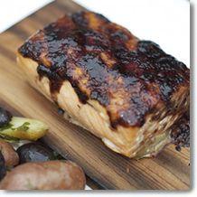 blueberry horseradish grilled salmon