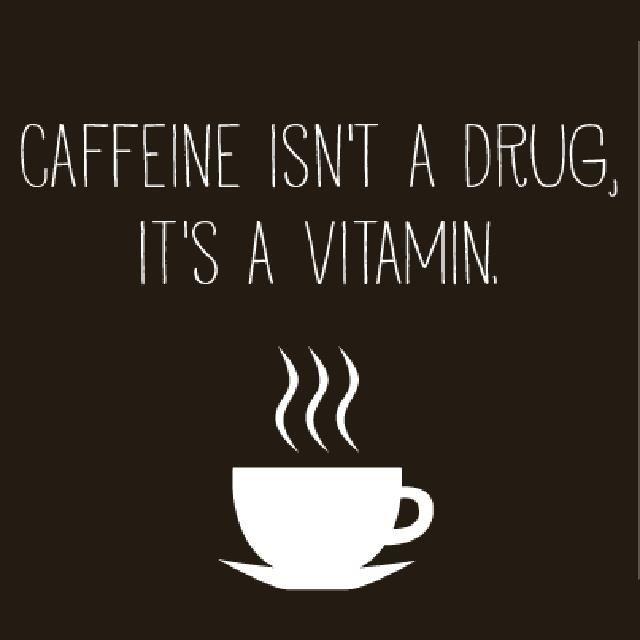I take my vitamins daily. No sugar; a wee bit o' skim milk.