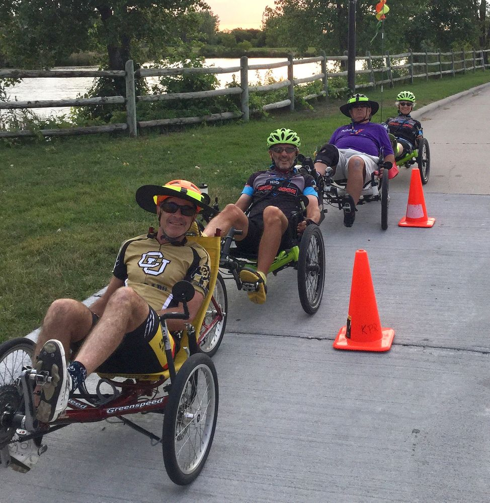 Recumbent Trikes at 2017 NE games