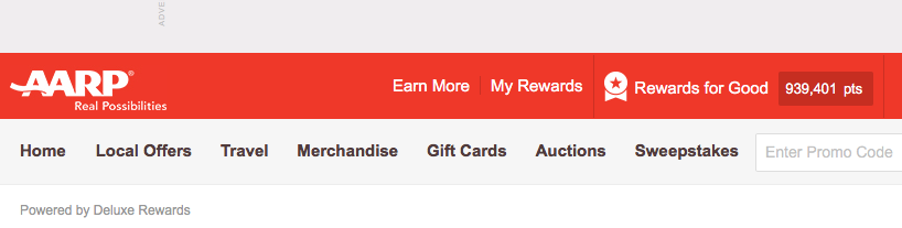 Click on 'My Rewards'
