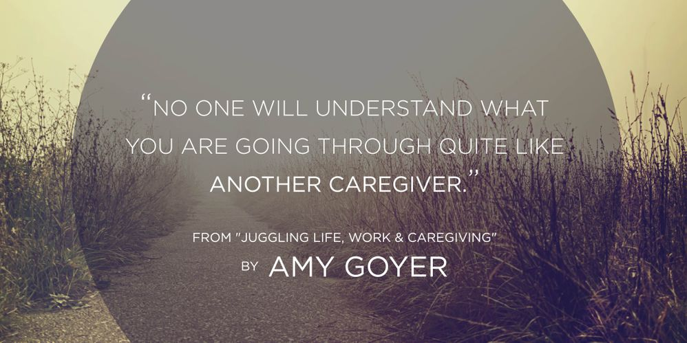 No one understand like another caregiver.jpg