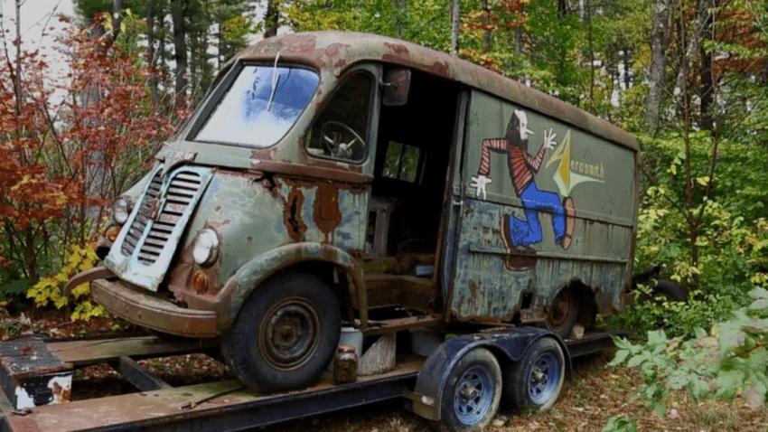 Original Aerosmith Tour Van found