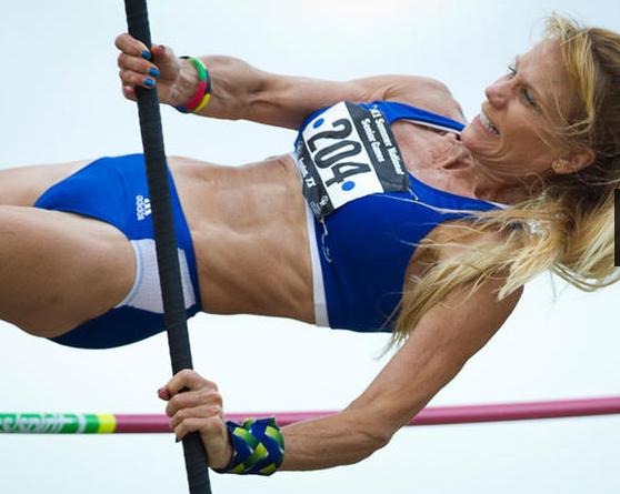60-something athlete Kay Glynn at the US Senior Olympics.