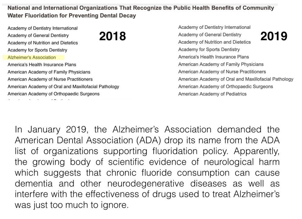 Alzheimer's Assoc off ADA list