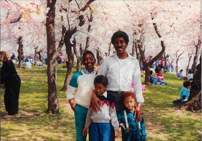 My brother John and his boys at Cherry Blossom Festival