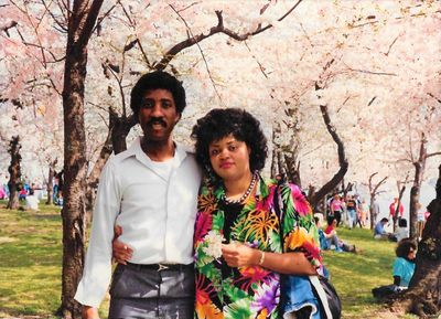 John and wife Laura at Cherry Blossom Festival