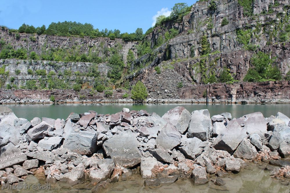 At the location in the quarry
