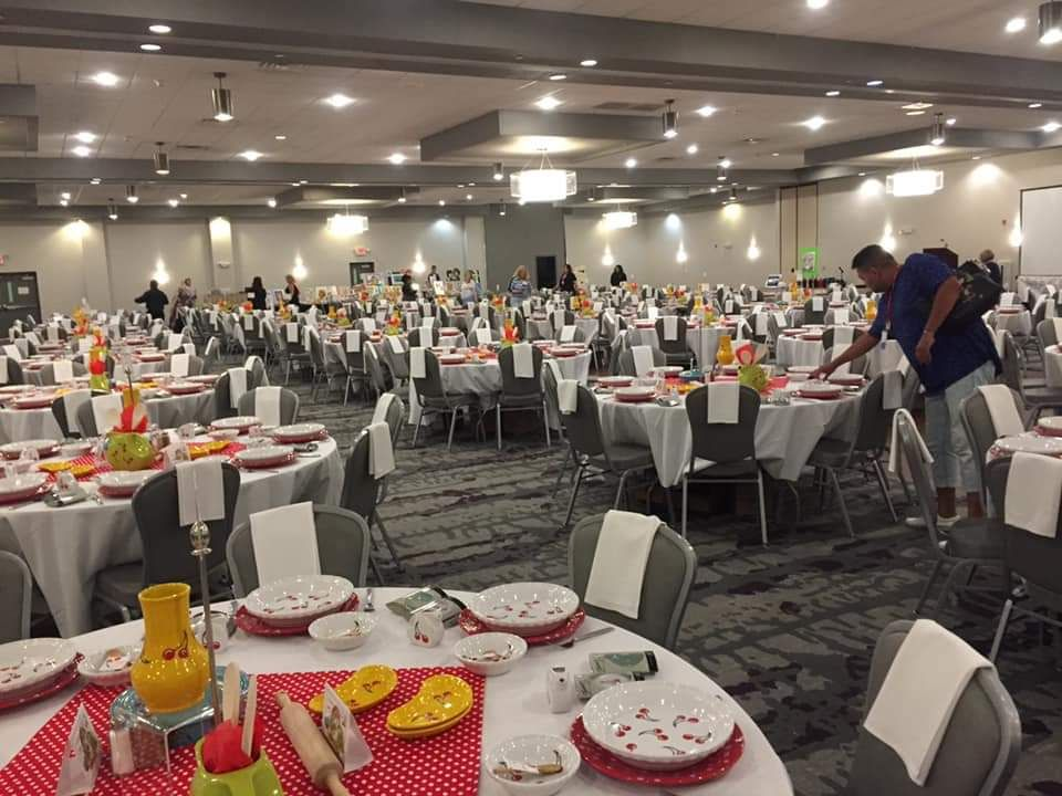 Banquet room before opening