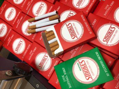 Smokes, original, menthol and now with Kratom