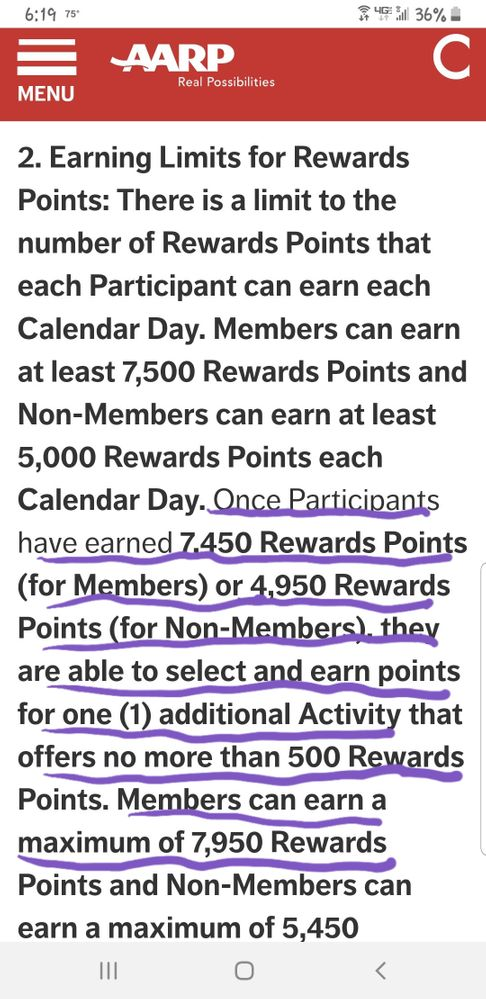 Daily earning limits plus possible extra