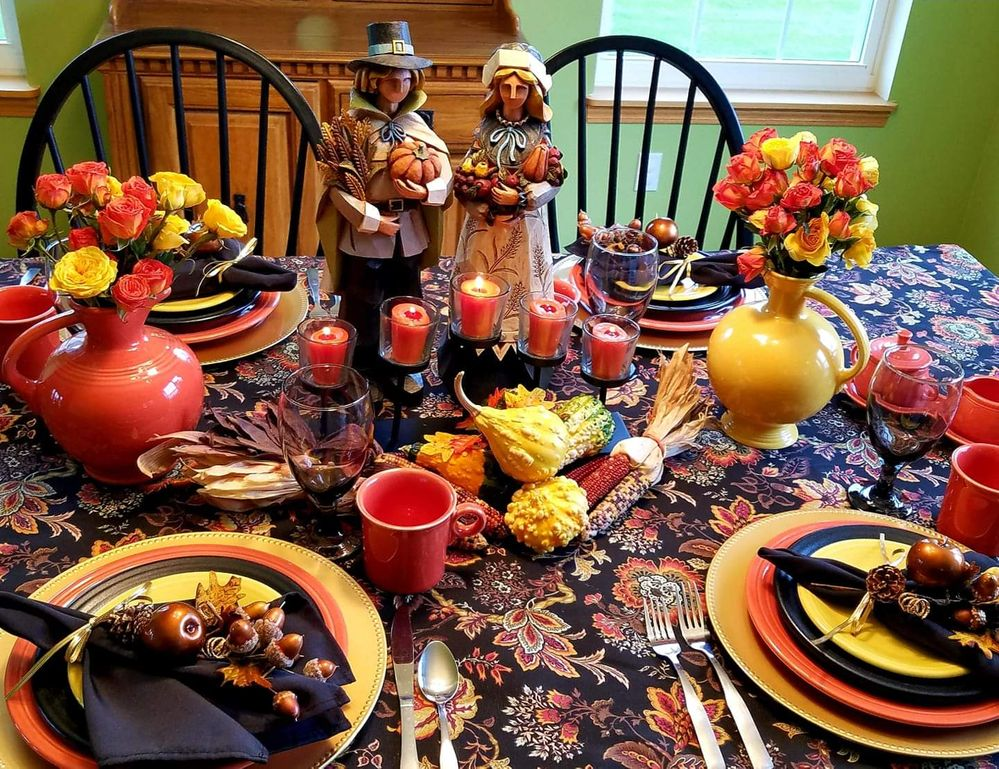 Fiestaware table setting