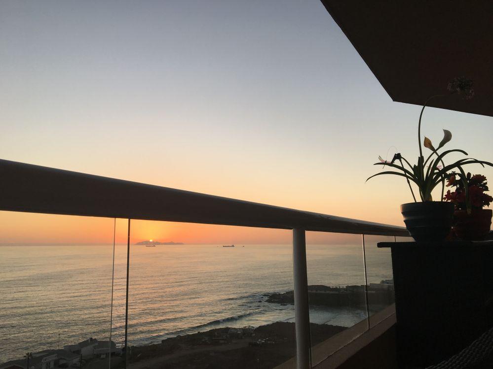 West view my balcony to Coronado Isl.