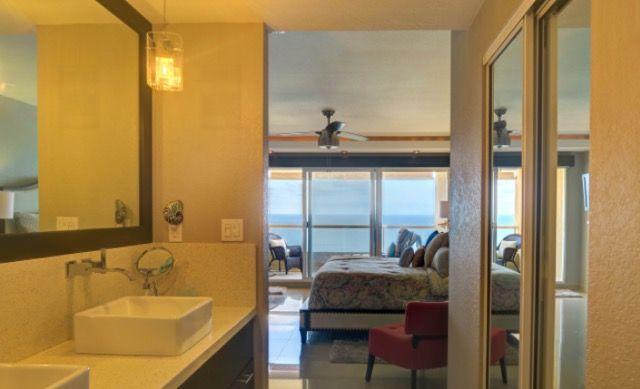 Main bedroom-bath suite ocean-front