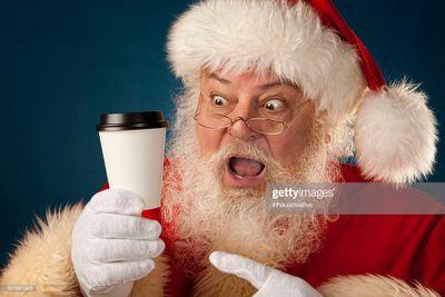 Santa needs more coffee!