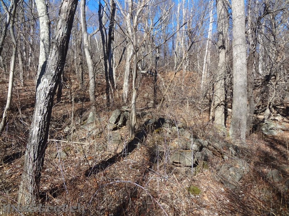 Remnants of a foundation to Buck Corbin's home.