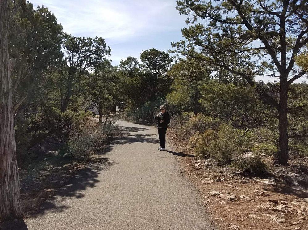 Mary McKeith on hotel path