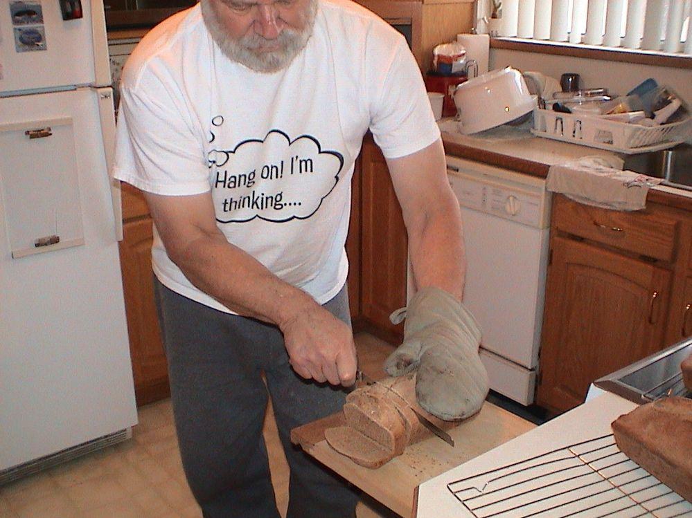 Somebody is slicing my fresh bread!