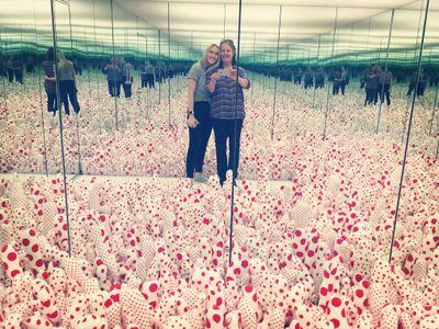 Mumsy and me at the Yayoi Kasuma Infinity Mirrors exhibit