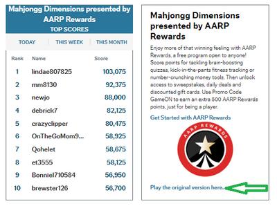Mahjongg Dimensions presented by AARP Rewards
