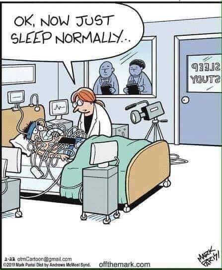 Sleep study no less