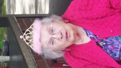 Queen for a day on her 100th!