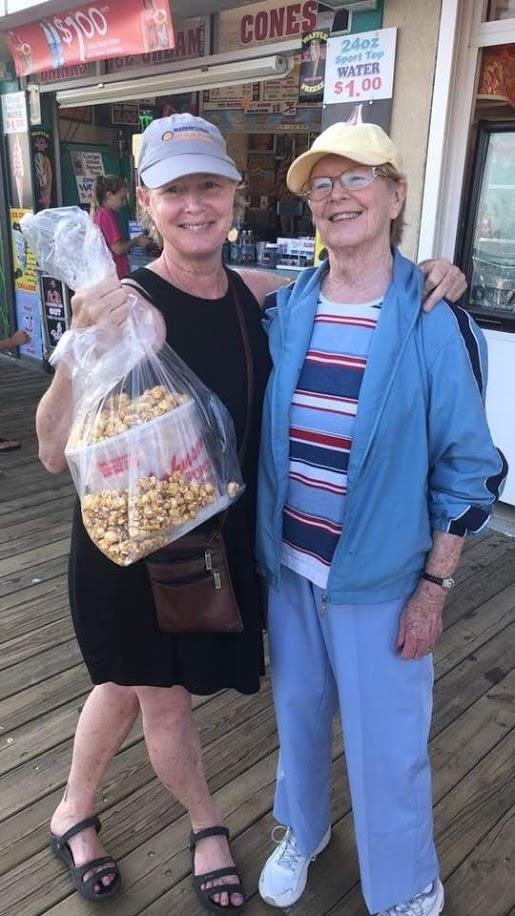 Warm Johnson's Popcorn on the Ocean City, NJ boardwalk!