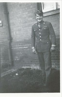 My dad off to WWII