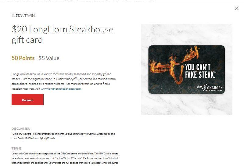 Wrong offer shown for Longhorn egift card, 073020.JPG