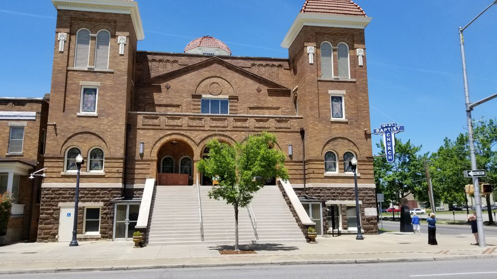 The 16th Street Baptist church, bombed in 1963 by members of the KKK