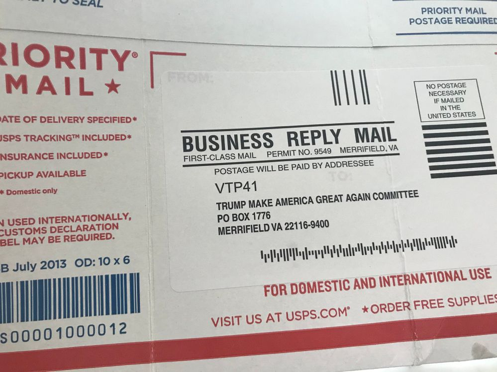 Hypocrisy again for the GOP. USPS good enough for receiving donations but not votes.jpg