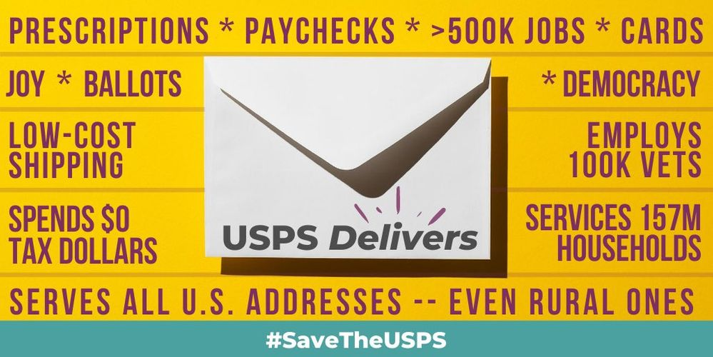 Congress must SaveTheUSPS.jfif