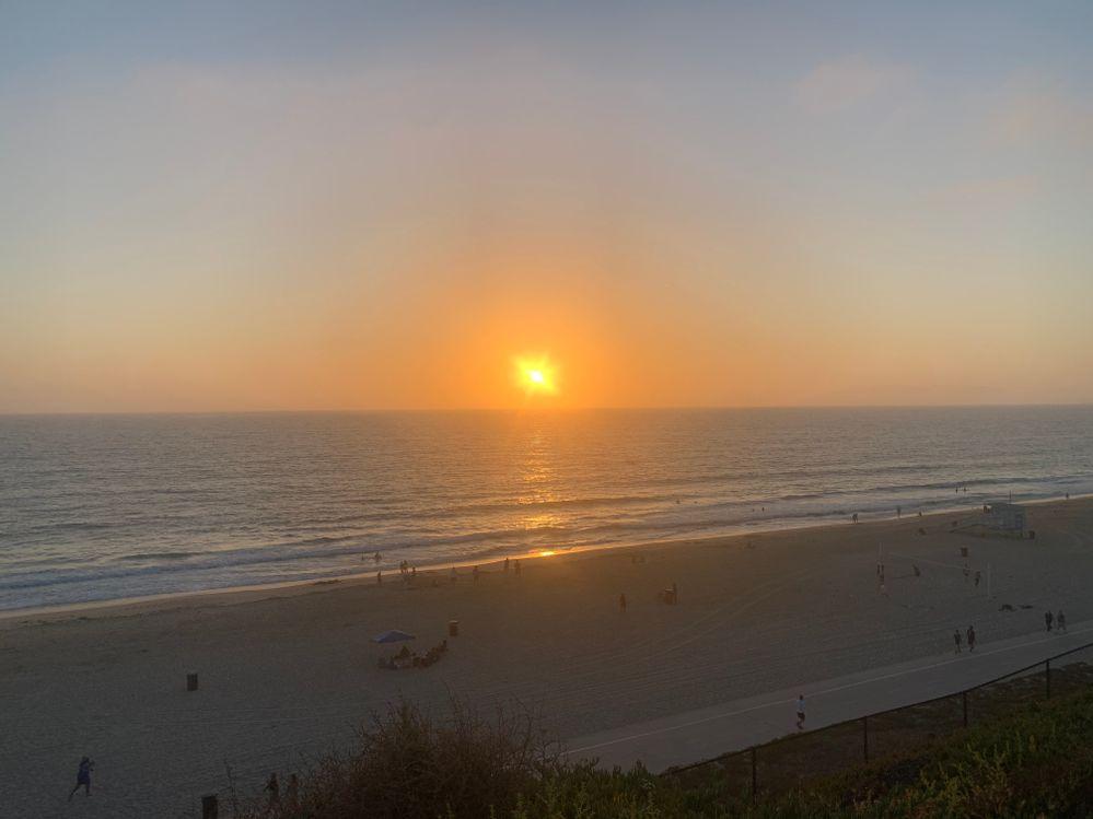 Enjoying the sunset at Playa Del Rey, California